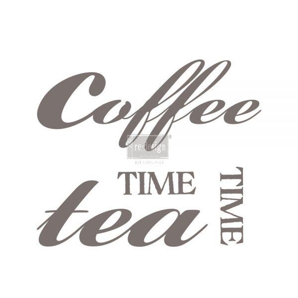 "Redesign Décor Transfers®- Coffee Tea 28.5""x 11.3"""