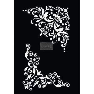 """Redesign 3D Décor Stencils - Lenore Corners 10""""x 18"""""""