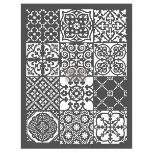 "Redesign Décor Stencils® - Patchwork  20""x 26"""