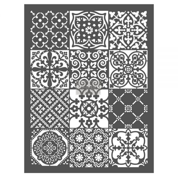 """Redesign Décor Stencils® - Patchwork  20""""x 26"""""""