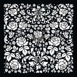 "Redesign 3D Décor Stencils - Madelia Garden 20""x 20"""