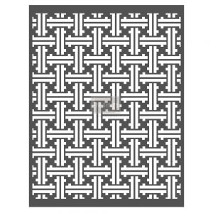 "Redesign Décor Stencils® - Basket Weave  22""x 28"""
