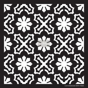 "Redesign Décor Stencils® - Dainty Fleur  22""x 22"""