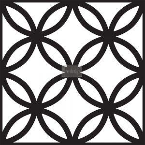 """Redesign Concrete Stencil - Grenadine 11.5""""x11.5"""""""