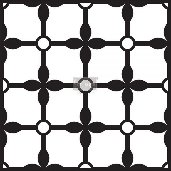 "Redesign Concrete Stencil - Grand Palace 11.5""x11.5"""