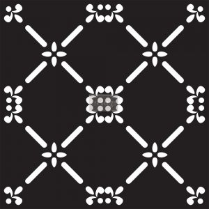 "Redesign Concrete Stencil - French Dame 11.5""x11.5"""