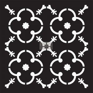 """Redesign Concrete Stencil - Madina 11.5""""x11.5"""""""