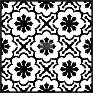 "Redesign Concrete Stencil - Melilla Flower 11.5""x11.5"""