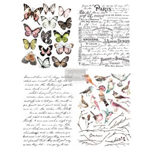 "Redesign Décor Transfers® - Parisian Butterflies 22""x 30"""