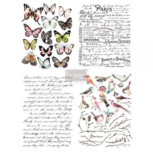 """Redesign Décor Transfers® - Parisian Butterflies 22""""x 30"""""""