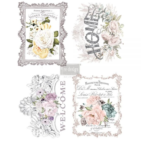 "Redesign Décor Transfers® - Floral Home 11""x 15"" each design"