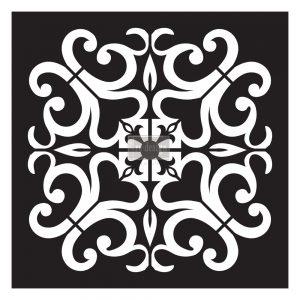 "Redesign Paver Stencil 11.5""x11.5""- Valentina"