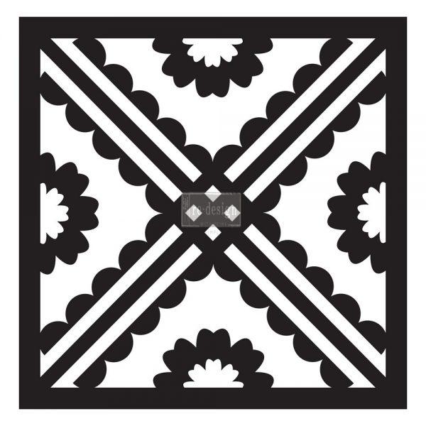"Redesign Paver Stencil 11.5""x11.5""- Carmela"