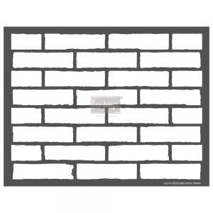 "Redesign 3D Décor Stencils - Vintage Brick 22.5""x 27"""