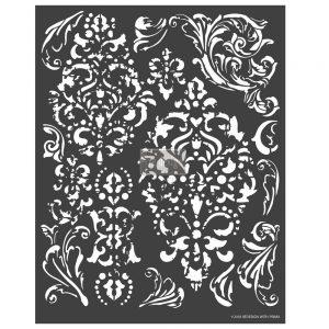 "Redesign 3D Décor Stencils-Distress Florish 22""x 28"""