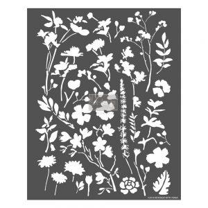 """Redesign 3D Décor Stencils - Modern Flora 25""""x 31"""""""