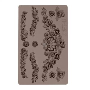 "Redesign Décor Moulds® -Tillurie Flourishes 5""x 8"" 12mm thickness"