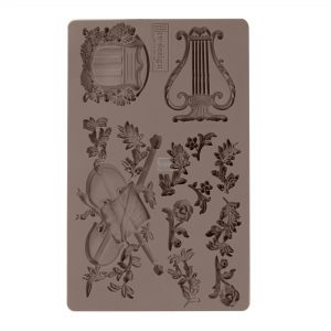 "Redesign Décor Moulds® -Musical Journey 5""x 8""  8 mm thickness"