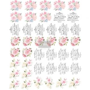 "Redesign Knob Transfer - Sweet Spring  8.5""X10.5"" Sheet size"