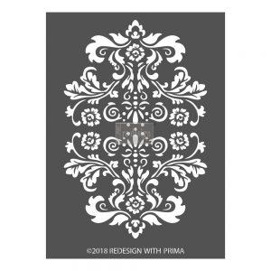 "Redesign 3D Décor Stencils - Alessandro Flourish 9""x 11.5"""