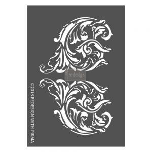 "Redesign 3D Décor Stencils - Giulia Scrolls 8""x 11.5"""
