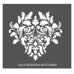 "Redesign 3D Décor Stencils - Giovanna Flourish 8""x 8.5"""