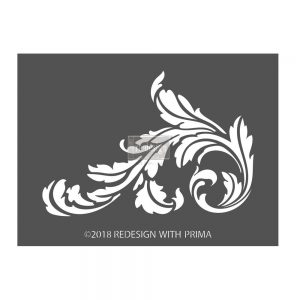 "Redesign 3D Décor Stencils - Sonnett Simple Scroll 7.5""x 10"""