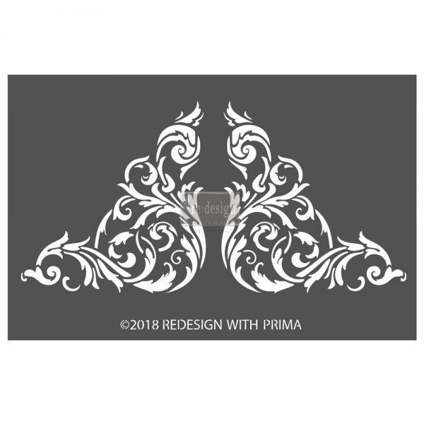 "Redesign 3D Décor Stencils - Anetta Corners 7""x 11"""