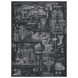"Redesign Décor Transfers® - Industrial Mechanics 22""x 30"""