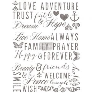 "Redesign Décor Transfers® - Words To Live By  22""x 30"""