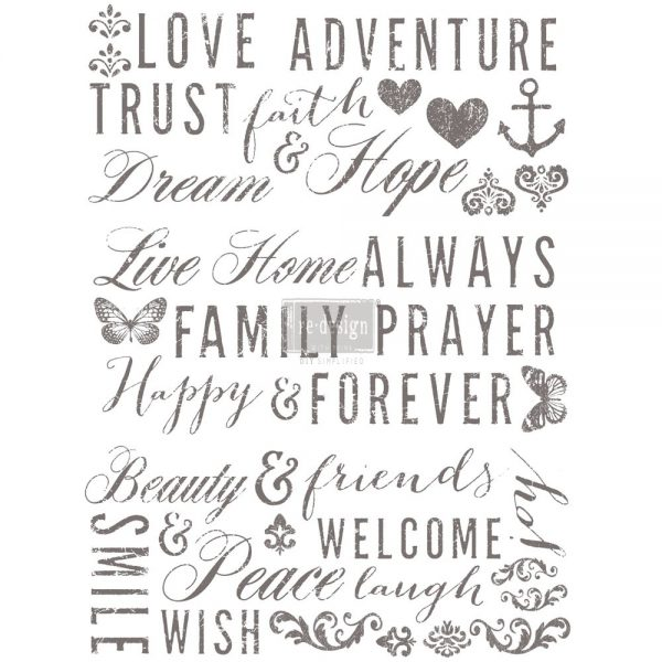 """Redesign Décor Transfers® - Words To Live By  22""""x 30"""""""
