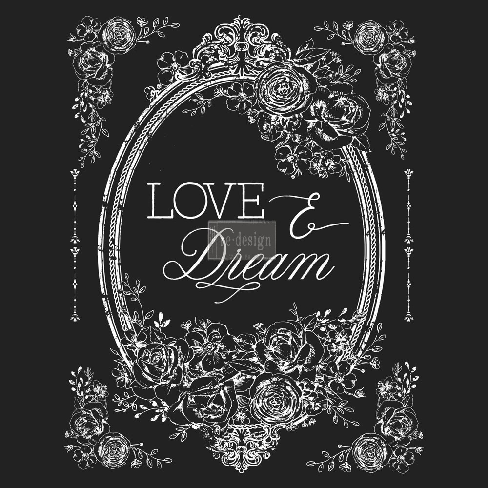 "Redesign Décor Transfers® - Love & Dream 22""x 30"" white color transfer"