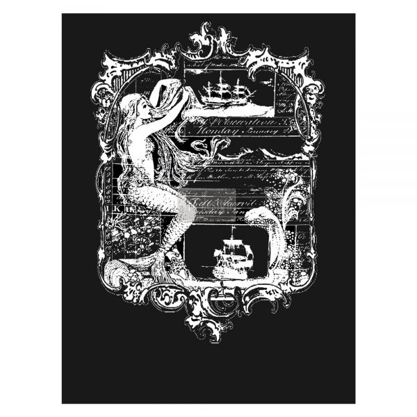 """Redesign Décor Transfers® - Mermaid II 22""""x 30"""" white color transfer"""