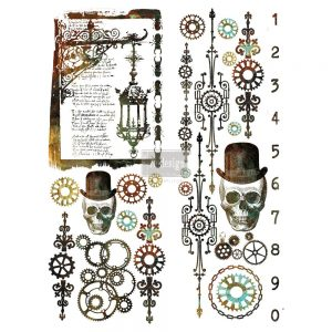 """Redesign Décor Transfers®- Steampunk 22""""x 30"""""""