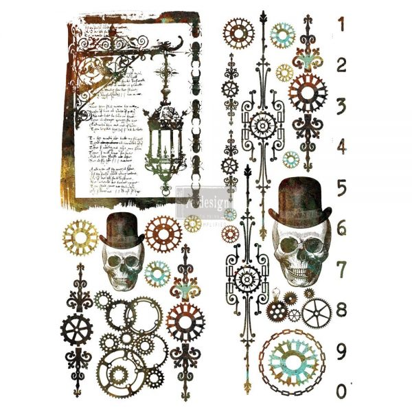 "Redesign Décor Transfers®- Steampunk 22""x 30"""