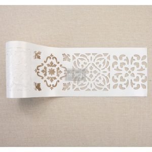 "Redesign Stick & Style Stencil Roll 4"" 15 yards- Casa Blanca Tile"
