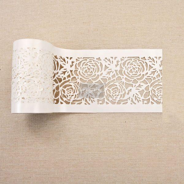 """Redesign Stick & Style Stencil Roll 4"""" 15 yards- Tea Rose Garden"""