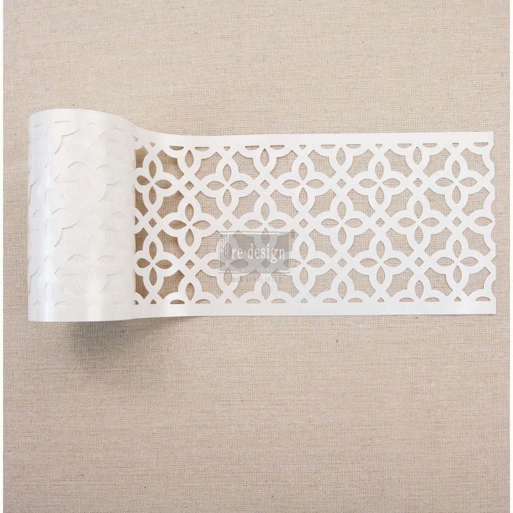"Redesign Stick & Style Stencil Roll 4"" 15 yards- Calypso Lattice"