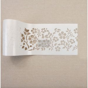 "Redesign Stick & Style Stencil Roll 4"" roll 15 yards- Royal Ann Garden"