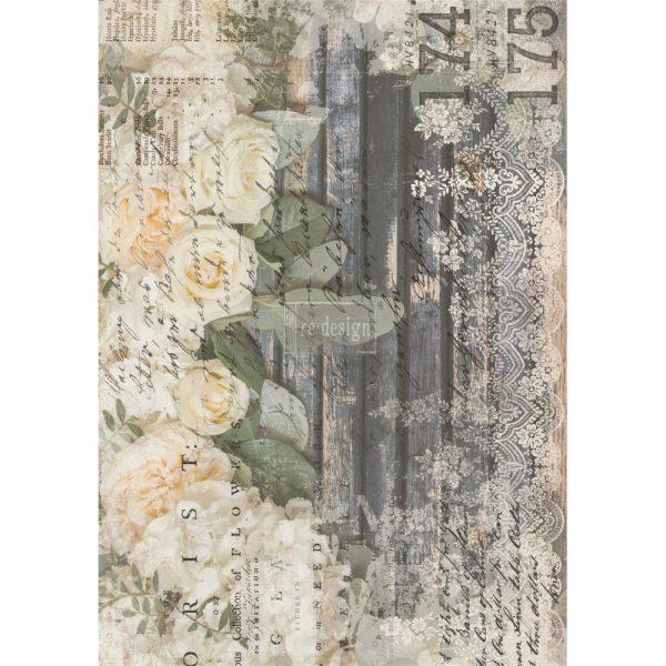 "Redesign Décor Transfers® - White Fleur 22""x 30"""