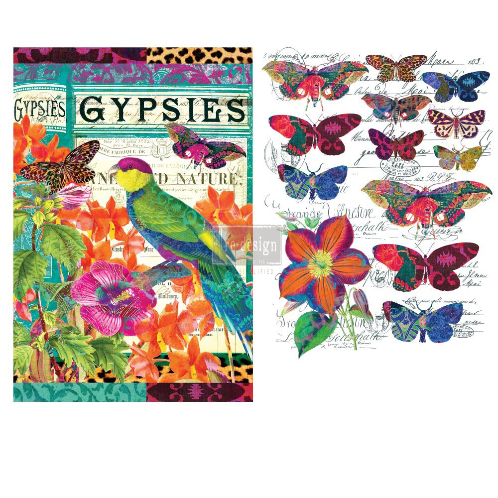 "Redesign Décor Transfers® - Boho Bird Butterfly 22""x 30"""
