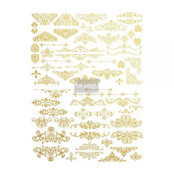 Redesign Gold Transfer - Gilded Ornate Flourishes