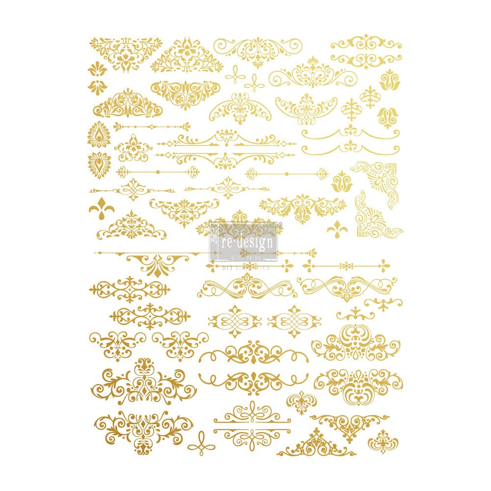 Redesign Gold Transfer - Gilded Ornate Flourishes