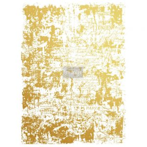 Redesign Gold Transfer - Gilded Distressed Wall
