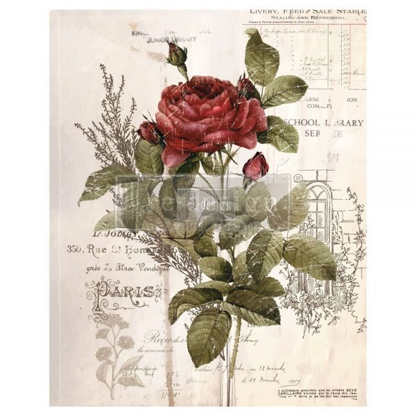 "Redesign Décor Transfers® - Botanical Rose 24""x 30"""