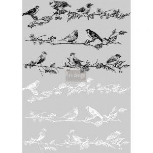 "Redesign Décor Transfers®- Birds & Berries 24""x 34"""