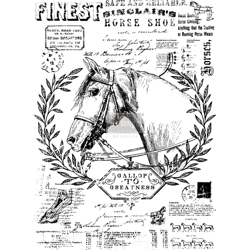 "Redesign Décor Transfers® - Fine Horsemen 24""x 33"""