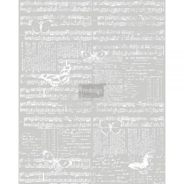 "Redesign Décor Transfers® - Music & The Butterflies 24""x 30"""
