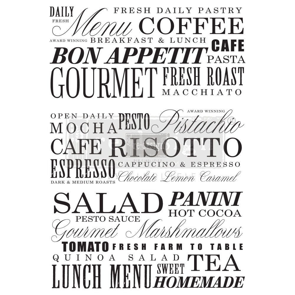 "Redesign Décor Transfers®- Delicious Menu 23""x 31"""