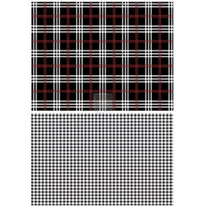 "Redesign Décor Transfers® - Gingham Black size 23""x 33"""